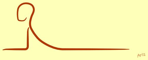 Sfinxhouding, een milde achterwaartse buiging